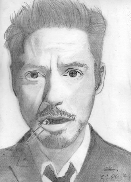 Robert Downey Jr by Cannelleechelon